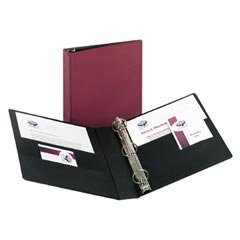 Avery Durable Round Ring Binder with Label Holder, 11 x 8-1/2, 2