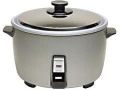 Panasonic 40-Cup Commercial Electric Rice Cooker, Features Automatic Shut-Off And 2 Hour Keep Warm Option, Nsf Restaurant Certified, Includes A Stainless-Steel Lid, And Removable Pan Liner, Silver