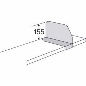 Kerkmann Fachbodenteiler für Bibliotheks-Regal Univers Tiefe 25cm lichtgrau
