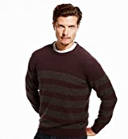 Blue Harbour Extrafine Pure Lambswool Striped Jumper
