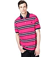 Blue Harbour Pure Cotton Graded Striped Polo Shirt