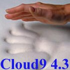 4.3 Cloud9 King 1 Inch 100% Visco Elastic Memory Foam Mattress Topper