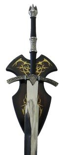 LOTR-Herr-Der-Ringe-Witch-King-Schwert-mit-ein-Hoelzernes-Display-Enthalten