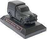 Morris Minor Van Model on Plinth - Hand Crafted Coal Model Car