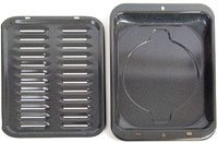 GE Part Number WB48X10056 Broiler Pan&Rack Large 12-3/4 x 16-1/2 (Broiler Pans For Ovens compare prices)