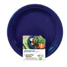 Preserve - Reusable Recycled Plastic Plates Large Midnight B