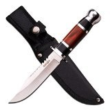 "Survivor 6"" Blade with Wood Handle Black Fixed Blade Knife"