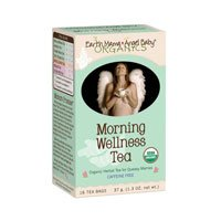 Earth Mama Angel Baby Organic Morning Wellness Tea, 16 Teabags/Box  (Pack of 3)