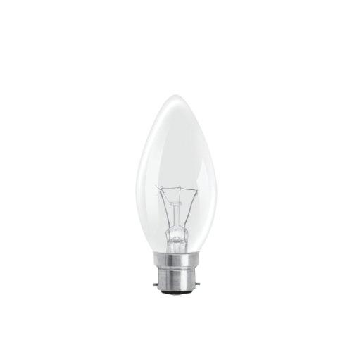Rough ampoules style bougie à baïonnette GLS Transparent 40 W (Lot de 10)