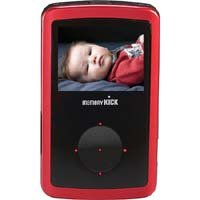 Memory Kick 120 GB MediaCenter HDD Portable Multimedia Photo Viewer & Manager with USB 2.0 Interface - Red