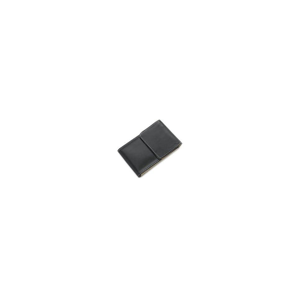 Free Personalized Black Leatherette Card Case   Graduation