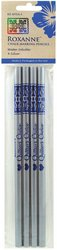 Water Soluble Chalk Marking Pencils 4/Pkg. White & Silver