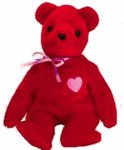 Ty Beanie Babies KISS-e - Valentine's Bear (Ty Store Exclusive) - 1