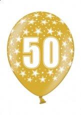 10 Luftballons Gold mit der Zahl 50 - schön zum Jubiläum