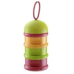 Beaba Stacked Formula Milk Container - Orange/Green/Pink