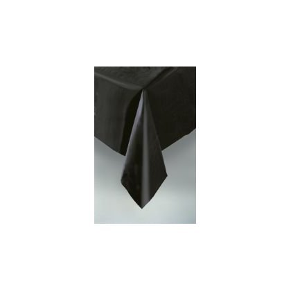 "Plastic Rectangular TableCovers 54"" x 108"" - 20 Colors Color: Black"
