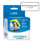 Dymo Multipurpose Labels 500 roll/1 Per Box, 1 X 2 1/8, White (30336)