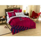 "Los Angeles Angels 5 Pc TWIN Comforter Set PLUS a Los Angeles Angels ""Triple Play"" Micro Raschel Throw (45""x60"") - Entire Set Includes: (1 Comforter, 1 Flat Sheet, 1 Fitted Sheet, 1 Pillow Case, 1 Sham, 1 ""Triple Play"" Micro Raschel Throw) SAVE BIG ON BUNDLING! at Amazon.com"