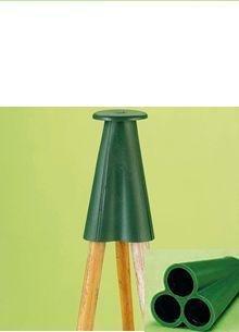 Elixir Pyramid Rubber Cane Caps/Grips, Bamboo Canes - 10,12,20,25,100