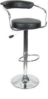 Black - Omicron Kitchen Padded Bar Stool