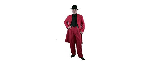 COSTUME Zoot Suit in Red/Black - Hat, Shirt and Tie not included