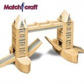 MATCHSTICK MODEL KIT OF LONDON'S TOWER BRIDGE INCLUDES MATCHSTICK SAFETY CUTTER by Matchcraft