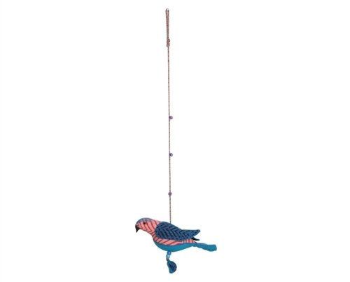Sitara Collections® Block Print Indian Roller Bird Hanger