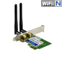 ASUS(PCE-N13) Wireless-N Network Adapter (150Mbps Transmit / 300Mbps Receive) with PCI-E interface, Include Full height and Low profile bracket, WPS button Support (replace by PCE-N15)