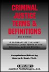 img - for Criminal Justice Terms and Definitions book / textbook / text book