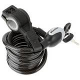 Master Lock Quantum 1800x10mm key self coiling braided steel Cable Lock Black