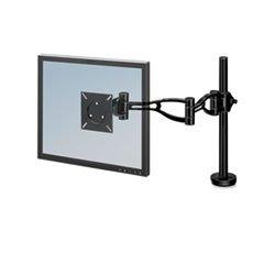* Depth Adjustable Monitor Arm, 21 x 4-1/2 x 24, Black