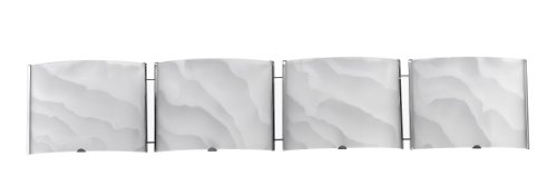 Chloe Lighting CH21010CM33-BL4  Ampere Transitional 4 Light Brushed Nickel Bath Vanity Wall Fixture White Frosted Alabaster Glass 33-Inch Wide