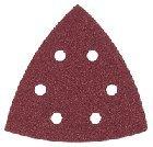 Kress Dreieckschleifer Haftschleifblätter 3-eck - Eckmaß 120 mm - K 40 (5 Stück) - Korund