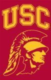 Party Animal Sports Fan NCAA Team USC Trojans Applique Banner Flag Trojan Head design