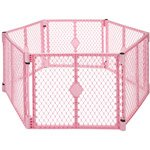 Superyard Classic PINK 8 panels super bonus set (North States Super Play Yard compare prices)