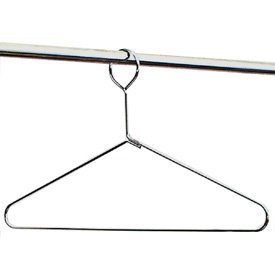 Closed Loop Chrome Wire Hangers - Set of 10