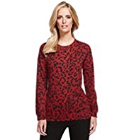 M&S Collection Paw Print Top