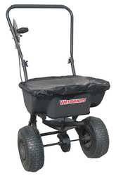 Westward 10F633 Broadcast Spreader, 60 Lbs Cap, Push Type