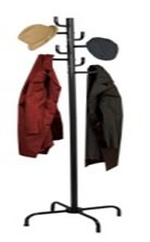 Home Basics Black Powder Coated Coat Rack