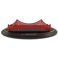 Golden Gate Bridge Model San Francisco With Wood Base 4