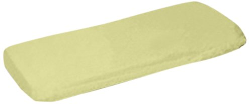 aBaby Organic Fitted Bassinet Sheet, Soft Yellow