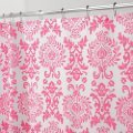 InterDesign Damask Shower Curtain, Hot Pink, 72-Inch by 72-Inch (Pack of 2)
