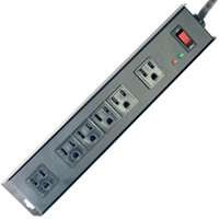 Power Zone Or802135 Surge 6 Outlet 1150J, Metal