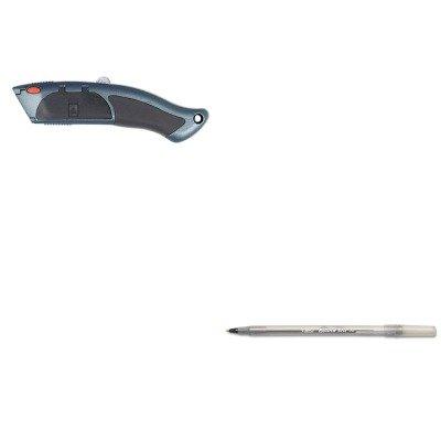 Kitacm18026Bicgsm11Bk - Value Kit - Clauss Auto-Load Razor Blade Utility Knife With Ten Blades (Acm18026) And Bic Round Stic Ballpoint Stick Pen (Bicgsm11Bk)
