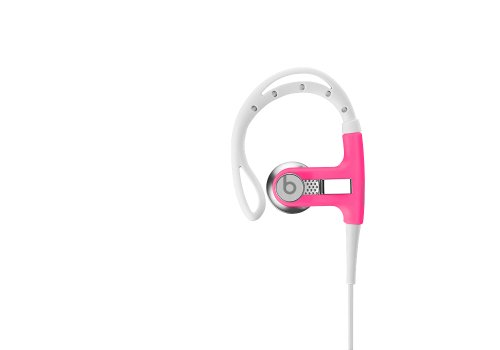 Beats By Dr. Dre Powerbeats Earbuds (Pink) Bundle With Beats Cable With Microphone And Custom Designed Zorro Sounds Cleaning Cloth