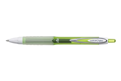 Uni-ball Signo Colours RT UMN-207F - Bolígrafo de punta redonda (12 unidades), color verde