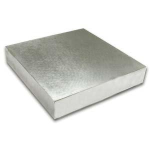 """Steel Bench Block Flat Anvil Jewelers Tool 4 x 4"""" x 1/2"""""""