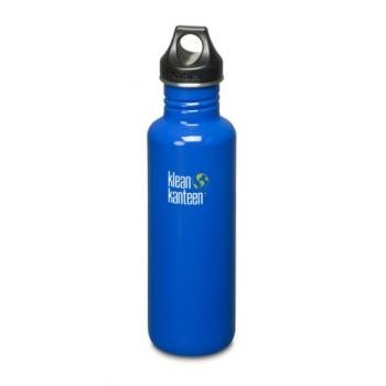 Klean Kanteen Stainless Steel Bottle With Loop Cap (Ocean Blue, 27-Ounce) front-958907