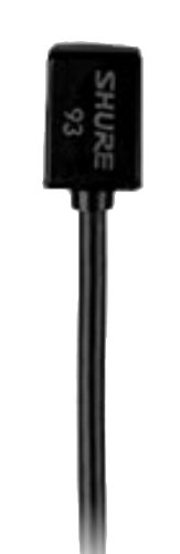 Shure Wl93 Series Subminiature Condenser Lavalier Microphones,Wl93- Black, With 4-Foot (1.2 M) Cable