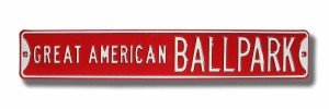 Buy Cincinnati Reds Great American Ballpark Street Sign by Authentic Street Signs